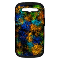 Squiggly Abstract C Samsung Galaxy S Iii Hardshell Case (pc+silicone)