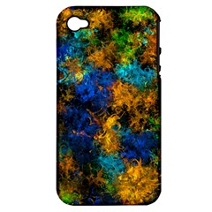 Squiggly Abstract C Apple Iphone 4/4s Hardshell Case (pc+silicone)