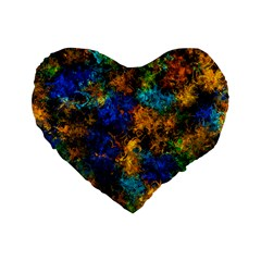 Squiggly Abstract C Standard 16  Premium Heart Shape Cushions