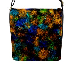 Squiggly Abstract C Flap Messenger Bag (l)