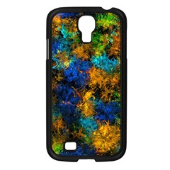 Squiggly Abstract C Samsung Galaxy S4 I9500/ I9505 Case (black)