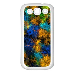 Squiggly Abstract C Samsung Galaxy S3 Back Case (white)
