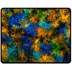 Squiggly Abstract C Double Sided Fleece Blanket (medium)