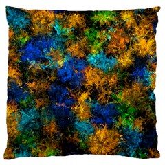 Squiggly Abstract C Large Flano Cushion Case (one Side)