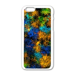 Squiggly Abstract C Apple Iphone 6/6s White Enamel Case