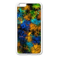 Squiggly Abstract C Apple Iphone 6 Plus/6s Plus Enamel White Case