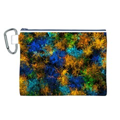 Squiggly Abstract C Canvas Cosmetic Bag (l)