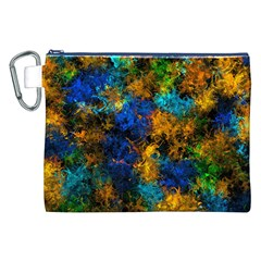Squiggly Abstract C Canvas Cosmetic Bag (xxl)