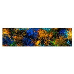 Squiggly Abstract C Satin Scarf (oblong)