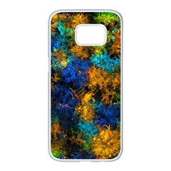 Squiggly Abstract C Samsung Galaxy S7 Edge White Seamless Case