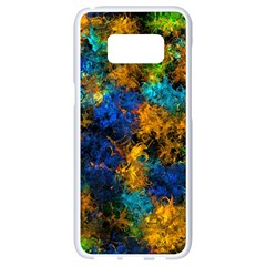 Squiggly Abstract C Samsung Galaxy S8 White Seamless Case