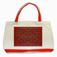 Hearts Can Also Be Flowers Such As Bleeding Hearts Pop Art Classic Tote Bag (red)