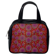 Hearts Can Also Be Flowers Such As Bleeding Hearts Pop Art Classic Handbags (one Side)