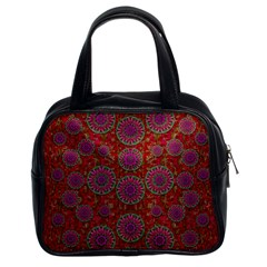 Hearts Can Also Be Flowers Such As Bleeding Hearts Pop Art Classic Handbags (2 Sides)