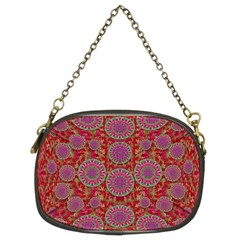 Hearts Can Also Be Flowers Such As Bleeding Hearts Pop Art Chain Purses (two Sides)