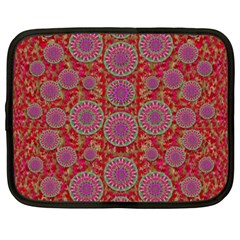 Hearts Can Also Be Flowers Such As Bleeding Hearts Pop Art Netbook Case (xxl)