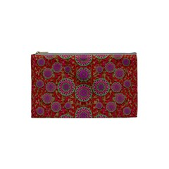Hearts Can Also Be Flowers Such As Bleeding Hearts Pop Art Cosmetic Bag (small)