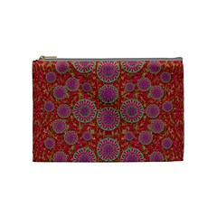 Hearts Can Also Be Flowers Such As Bleeding Hearts Pop Art Cosmetic Bag (medium)