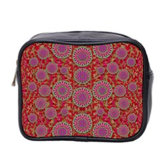 Hearts Can Also Be Flowers Such As Bleeding Hearts Pop Art Mini Toiletries Bag 2 Side