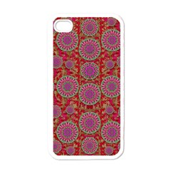 Hearts Can Also Be Flowers Such As Bleeding Hearts Pop Art Apple Iphone 4 Case (white)