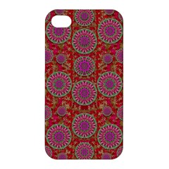Hearts Can Also Be Flowers Such As Bleeding Hearts Pop Art Apple Iphone 4/4s Premium Hardshell Case