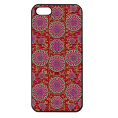 Hearts Can Also Be Flowers Such As Bleeding Hearts Pop Art Apple Iphone 5 Seamless Case (black)