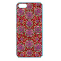 Hearts Can Also Be Flowers Such As Bleeding Hearts Pop Art Apple Seamless Iphone 5 Case (color)