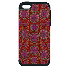 Hearts Can Also Be Flowers Such As Bleeding Hearts Pop Art Apple Iphone 5 Hardshell Case (pc+silicone)