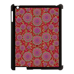Hearts Can Also Be Flowers Such As Bleeding Hearts Pop Art Apple Ipad 3/4 Case (black)
