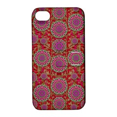 Hearts Can Also Be Flowers Such As Bleeding Hearts Pop Art Apple Iphone 4/4s Hardshell Case With Stand