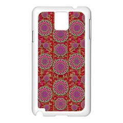 Hearts Can Also Be Flowers Such As Bleeding Hearts Pop Art Samsung Galaxy Note 3 N9005 Case (white)