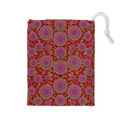 Hearts Can Also Be Flowers Such As Bleeding Hearts Pop Art Drawstring Pouches (large)