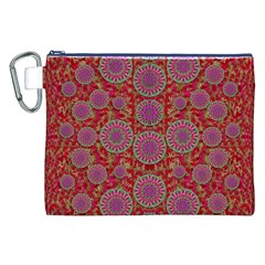 Hearts Can Also Be Flowers Such As Bleeding Hearts Pop Art Canvas Cosmetic Bag (xxl)