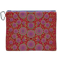 Hearts Can Also Be Flowers Such As Bleeding Hearts Pop Art Canvas Cosmetic Bag (xxxl)