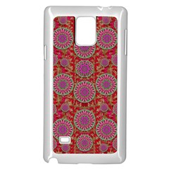 Hearts Can Also Be Flowers Such As Bleeding Hearts Pop Art Samsung Galaxy Note 4 Case (white)