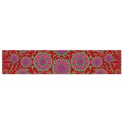 Hearts Can Also Be Flowers Such As Bleeding Hearts Pop Art Flano Scarf (small)