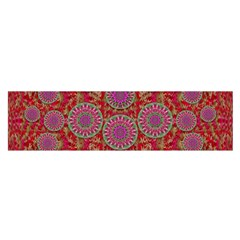 Hearts Can Also Be Flowers Such As Bleeding Hearts Pop Art Satin Scarf (oblong)