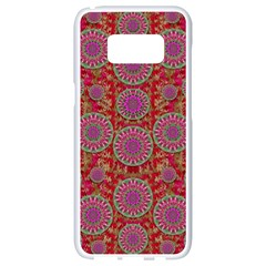 Hearts Can Also Be Flowers Such As Bleeding Hearts Pop Art Samsung Galaxy S8 White Seamless Case