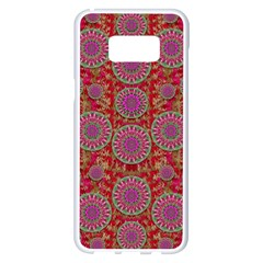 Hearts Can Also Be Flowers Such As Bleeding Hearts Pop Art Samsung Galaxy S8 Plus White Seamless Case