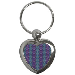 Retro Vintage Bleeding Hearts Pattern Key Chains (heart)