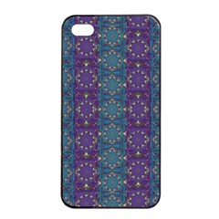 Retro Vintage Bleeding Hearts Pattern Apple Iphone 4/4s Seamless Case (black)