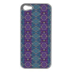 Retro Vintage Bleeding Hearts Pattern Apple Iphone 5 Case (silver)