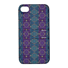 Retro Vintage Bleeding Hearts Pattern Apple Iphone 4/4s Hardshell Case With Stand