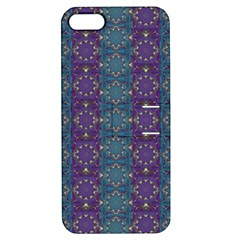 Retro Vintage Bleeding Hearts Pattern Apple Iphone 5 Hardshell Case With Stand
