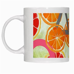 Citrus Play White Mugs