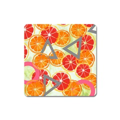 Citrus Play Square Magnet