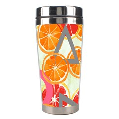 Citrus Play Stainless Steel Travel Tumblers