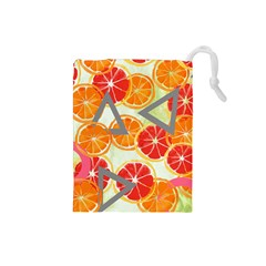 Citrus Play Drawstring Pouches (small)
