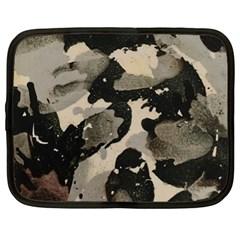 Black And White Splatter Netbook Sleeve (xl)