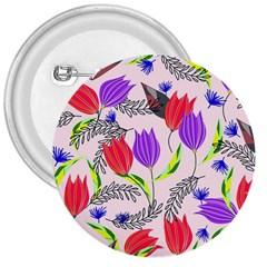 Floral Paradise 3  Buttons